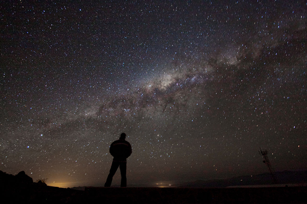 Staring at the Milky way