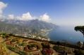Amazing-view-of-Amalfi-coast-seen-from-villa-Rufolo-garden-Ravello-Italy